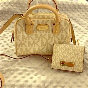 Set of  Michael Kors purse and wallet